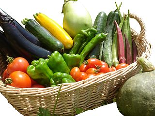果菜類カゴ盛り